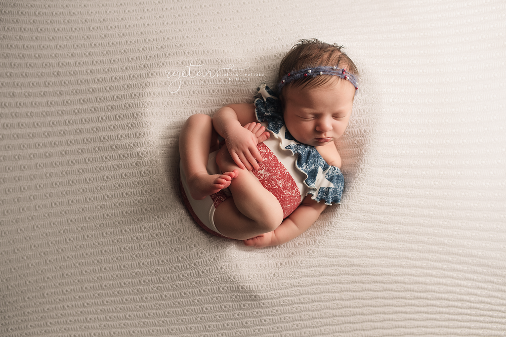 The Patriot Flutter- Newborn or Sitter- MADE TO ORDER