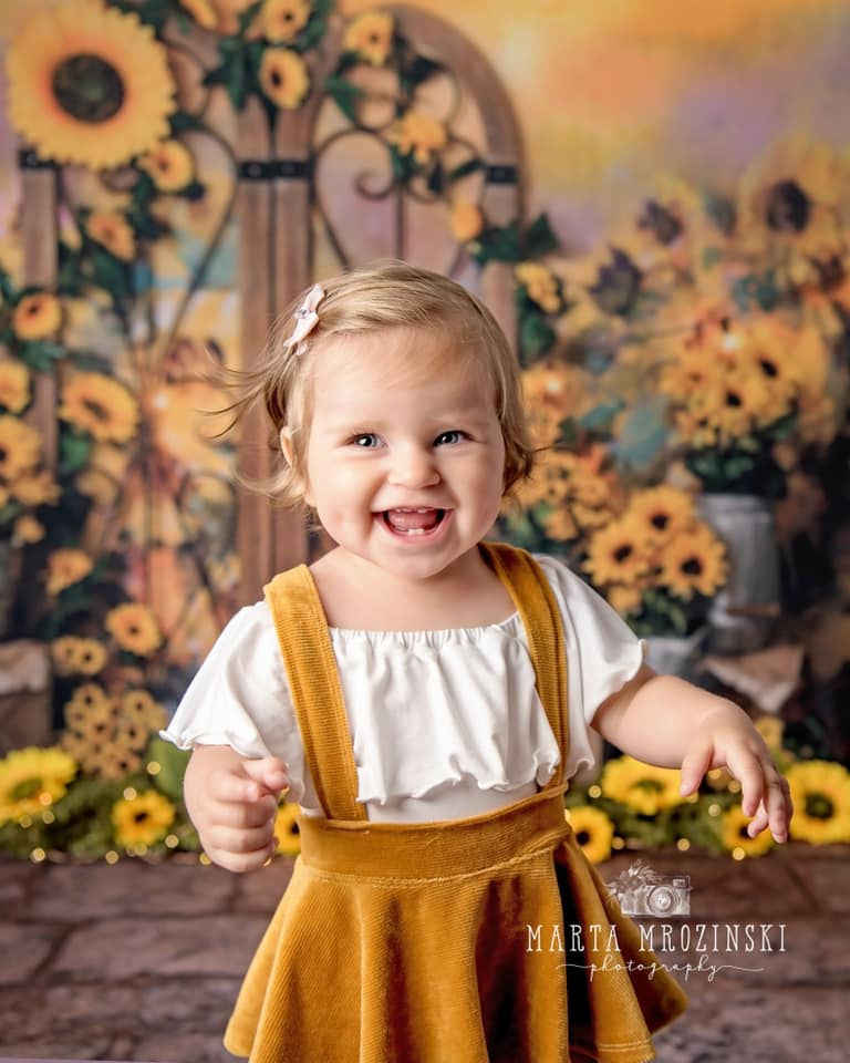 Corduroy Suspender Skirt Set- NEWBORN- Golden Sunset- MADE TO ORDER
