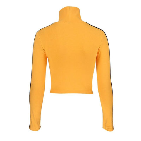 Quentin-Tarantino Crop Long Sleeve