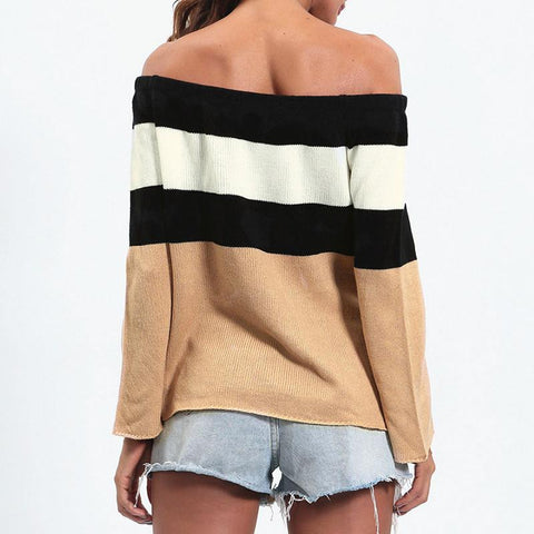 Crop Stripped Sweater
