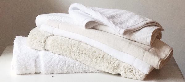 Matouk - Milagro bath rugs, mats & towels, Cielos bath rugs, Willey Boston