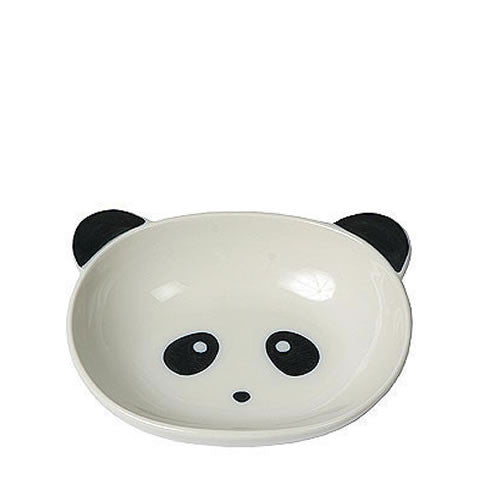 Japanese panda bowl, white and black porcelain