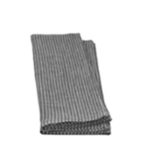 Fog Linen - linen napkins LTN008-GYWS - grey with white stripes, LTN009-GYWS