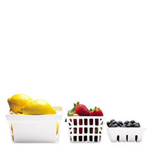 white porcelain fruit and berry baskets