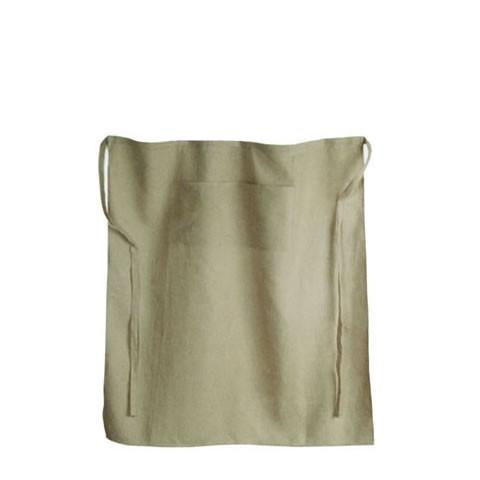 Libeco Belgian linen - cafe apron in natural linen 13467