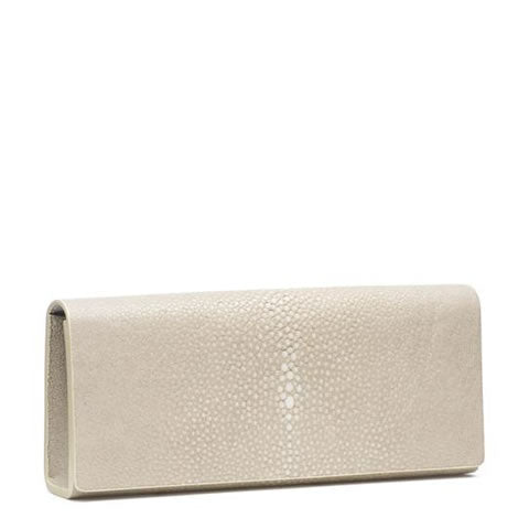 Vivo shagreen stingray sharkskin bag clutch, Cleo wheat, GB1-WHE