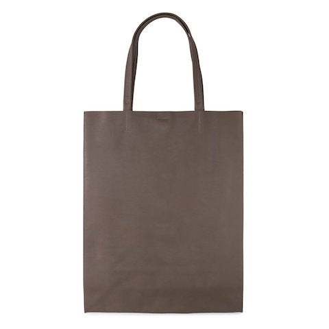 Minor History - super market leather tote vertical-shape, mushroom taupe, SUP_562_E