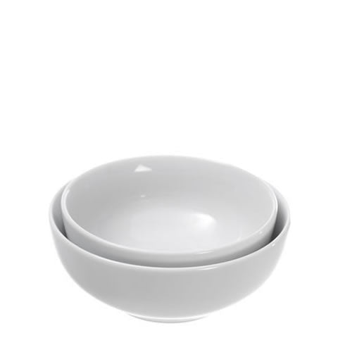 Pillivuyt French white porcelain - Sancerre salad / cereal bowls, 5-6 in., 172213 BL, 871638000621, 172215 BL, 871638000638
