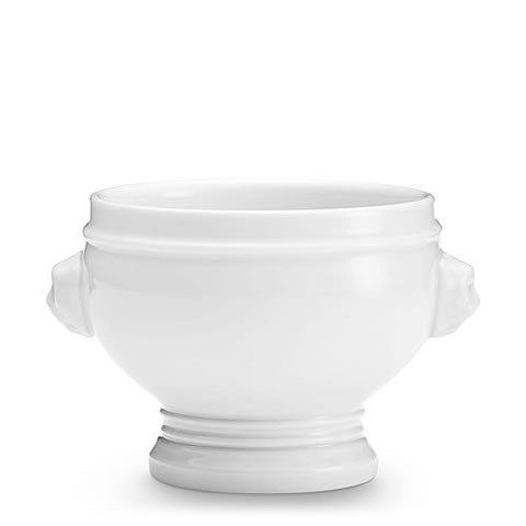 French Pillivuyt - lion head white porcelain bowl/tureen, 2 cup, 400150 BL, 871638000201