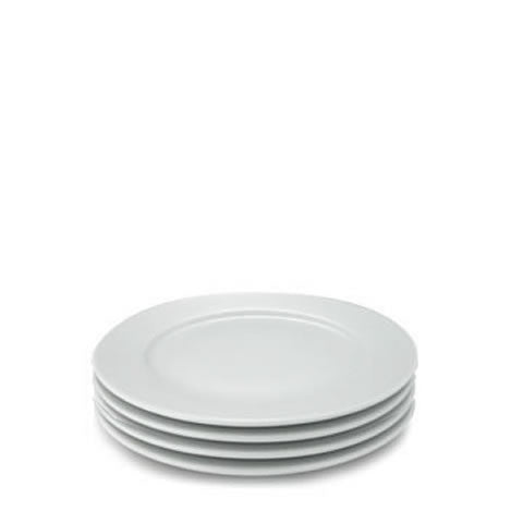 Pillivuyt French white porcelain - Sancerre plates, set of four, 871638000867, 212228BL