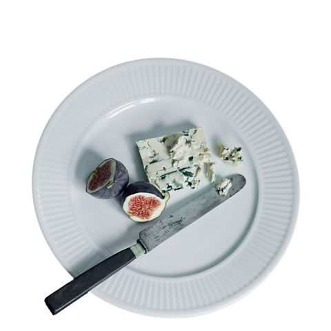 French Pillivuyt - white porcelain Plisse 11 in. dinner plate, 212228 BL, 871638000942