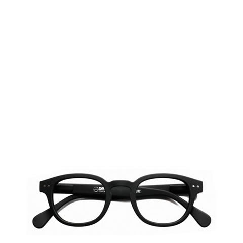Izipizi - French square readers / reading glasses, style C, matte black