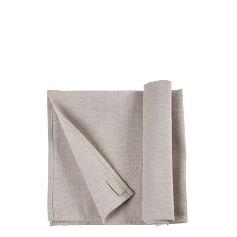 Libeco - Belgian linen-poly Polylin napkins in light grey, 60850, 5411502231772