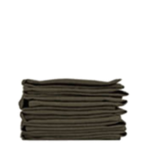 stacked linen napkins
