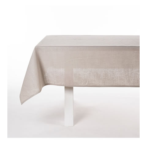 Libeco - Polylin tablecloth, Belgian linen-blend table cloth in light grey