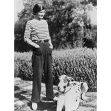 Coco Chanel in striped Breton shirt