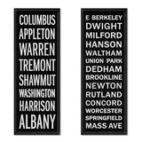 Willey Studio - handmade Boston South End subway / street signs, Willey Boston exclusive