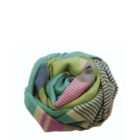 Natweave - cashmere pashmina with stripes