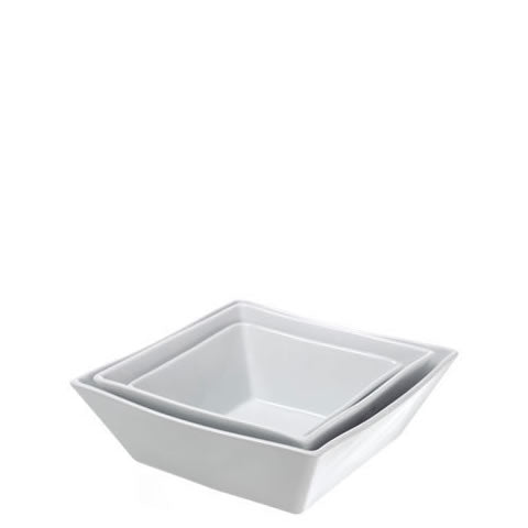 French Pillivuyt - white porcelain square Quartet square serving bowls, 10 in., 174025 BL, 871638000898