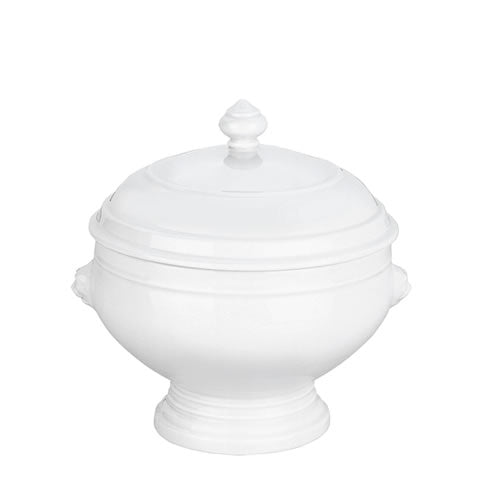French Pillivuyt - lion head white porcelain 2.5 qt tureen with lid, 400131 BX, 871638000188