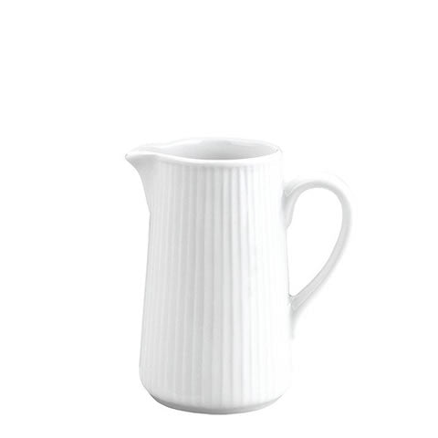 Pillivuyt French white porcelain - small Plisse pitcher / creamer, 364213BL, 364235BL