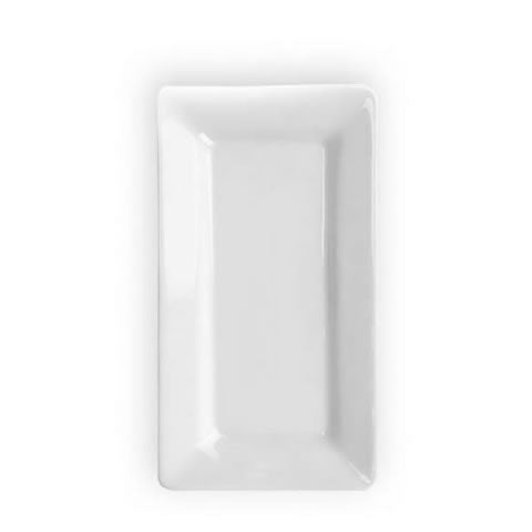French Pillivuyt - white porcelain rectangle Quartet plate / platter, 10x5.5, 224026 BL, 871638001291