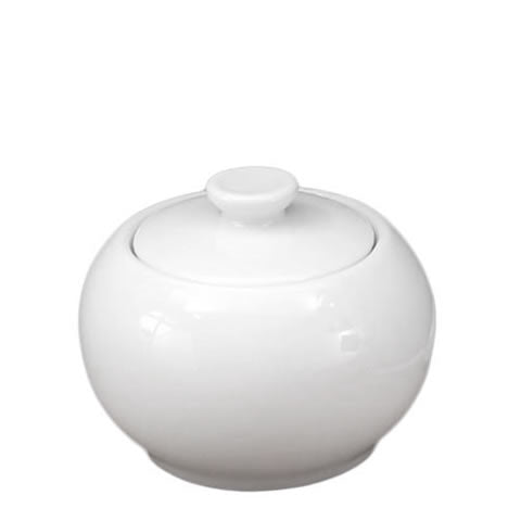 Pillivuyt French white porcelain - Sancerre covered sugar bowl, 862220 BX, 871638003110