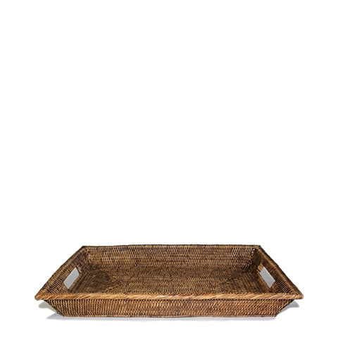 handwoven rattan rectangle serving trays, BAM023-AB
