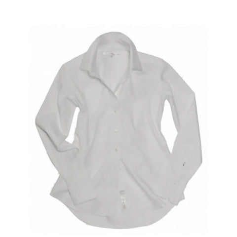 Claridge & King - Great White Shirt No. 1 in white pinpoint cotton
