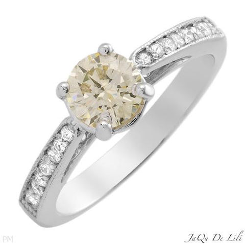 Engagement Ring With 0.95ctw Diamonds Size AU- M US - 6