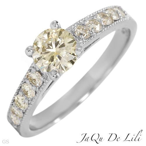 Engagement Ring With 0.91ctw Diamonds Size AU- N  US - 6.5