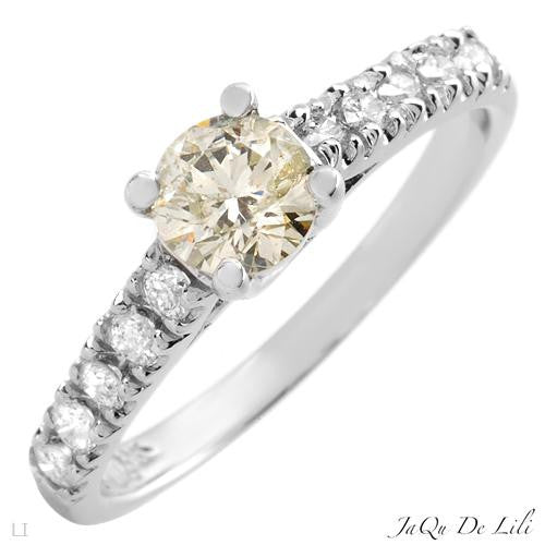 Engagement Ring With 0.81ctw Diamonds Size AU- N US - 6.5