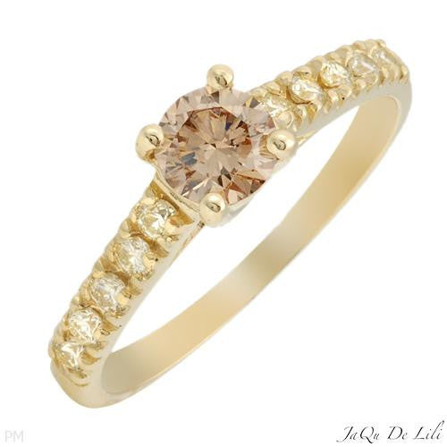 Engagement Ring With 0.80ctw Diamonds Size AU- O  US - 7