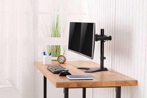 "Dual Articulating Monitor Desk Mount Supports 17"" - 32"" Monitors 2EZSTAND"