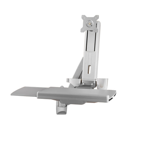 Sit Stand Combo Workstation Wall Mount System