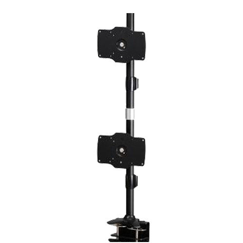 Dual Monitor Clamp Vertical Mount Max 32″ Monitors - AMR2C32V