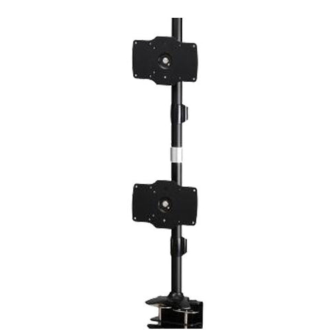 Dual Monitor Clamp Vertical Mount Max 32″ Monitors