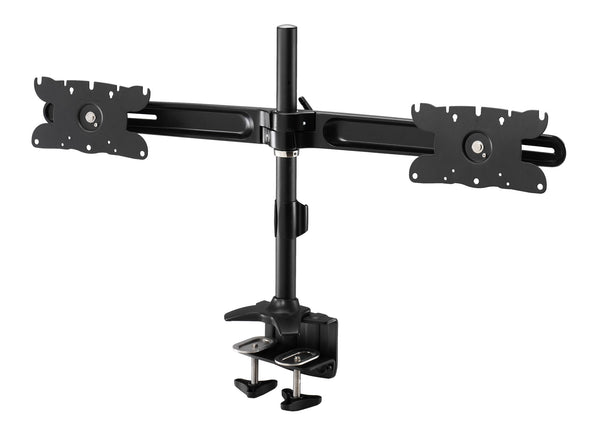"AMR2C32| Dual Monitor Clamp mount supports up to 2 LCD Monitors from 24"" to 32"""
