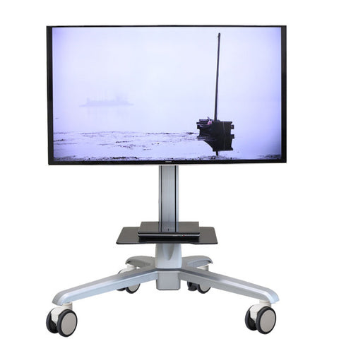 Mobile Media Conference Computer/TV Display Cart With Motorized Lift - AMRM6E1