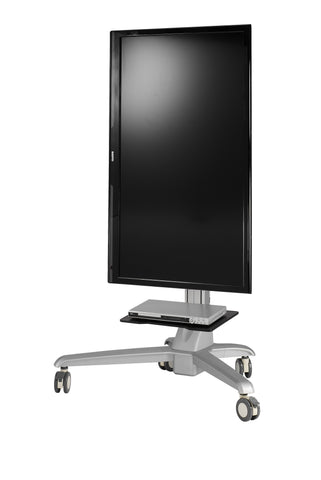 Mobile Media Conference Computer/TV Display Cart With Motorized Lift - AMRM4E
