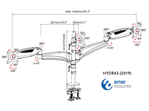 Amer Mounts HYDRA3 2019