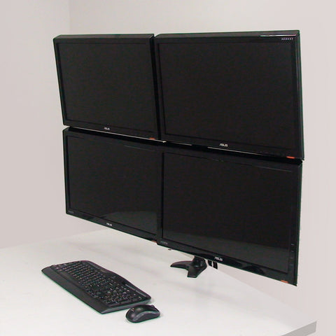 Quad Monitor Pole Moun