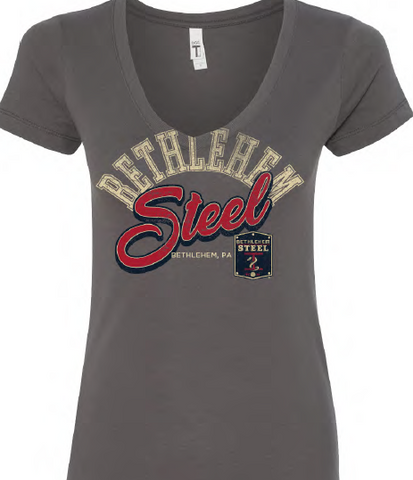 Women's Next Level Arch Bubble V Neck Tee