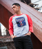 Men's LAT Distressed Logo Baseball Tee