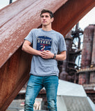 Men's Next Level Distressed Logo Tee