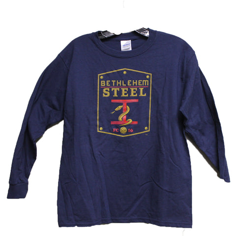 Gildan Youth L/S- Navy