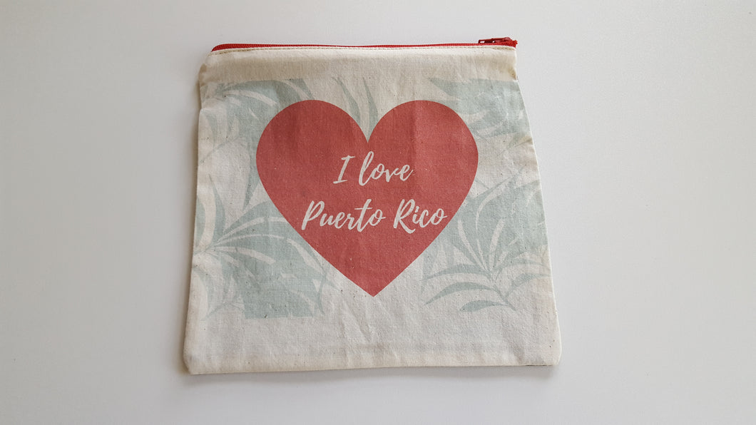 I love Puerto Rico zippered pouch. Fundraising