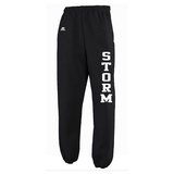 DM - FLEECE PANTS Russell Closed-Bottom - Black or Grey - ADULT