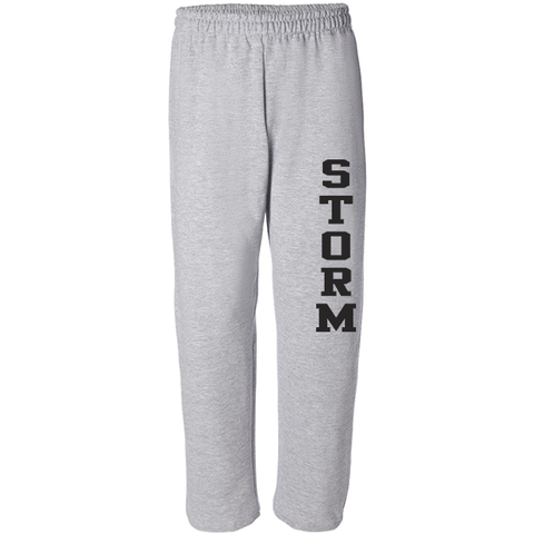 DM - FLEECE PANTS Gildan Open Bottom - Black or Grey - YOUTH