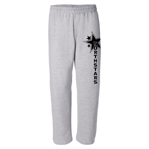 WLH - PANTS - Gildan Fleece - Open & Closed Bottom - Black or Grey - YOUTH
